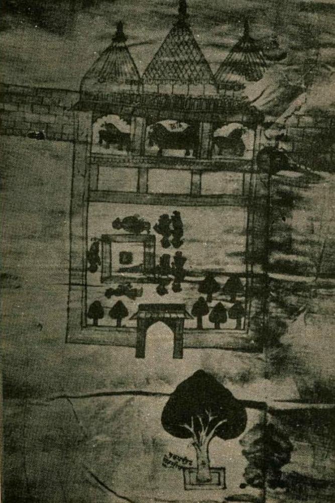 Original RamaJanmabhoomi Temple Ayodhya Map 1717 CE